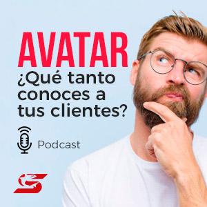Imagen podcast avatar agencia shark